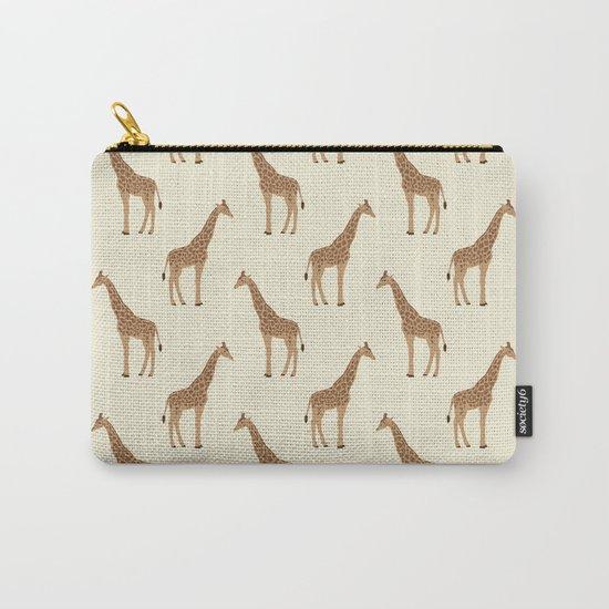 Giraffe animal minimal modern pattern basic home dorm decor nursery safari patterns Carry-All Pouch