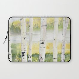 Behind The Birch Trees Laptop Sleeve
