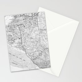 Anchorage Alaska Map (1994) BW Stationery Cards
