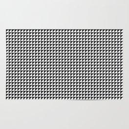 Triangulate Black and White Rug