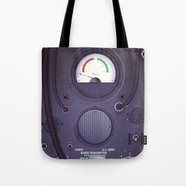 Vintage US Army Radio Transmitter Tote Bag