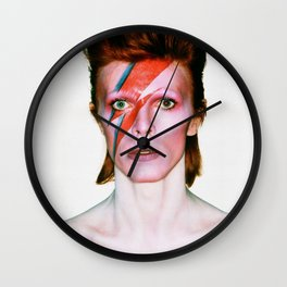 David Bowie Portrait Wall Clock