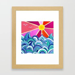 choppy II Framed Art Print