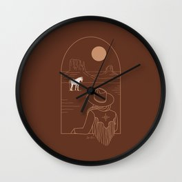 Lost Pony in Burnt Clay Wall Clock