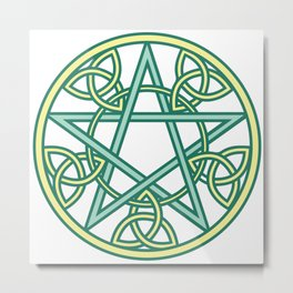 Celtic Pentacle Metal Print