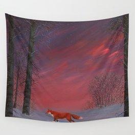Twilight Fox Wall Tapestry