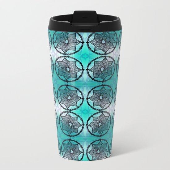 Turquoise Dream Catcher Metal Travel Mug