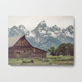 Grand Teton National Park Adventure Barn II - Landscape Photography Metal Print