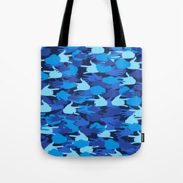 Handy Camo BLUE Tote Bag