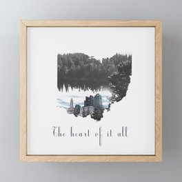 Ohio The Heart of it All Framed Mini Art Print