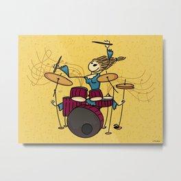 Crazy drummer Metal Print