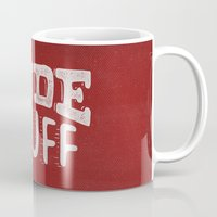 grease Mugs featuring Dude Stuff by Kris Petrat Design