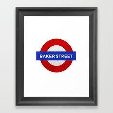 Sherlock Baker Street Print Framed Art Print