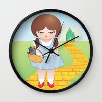 dorothy Wall Clocks featuring Dorothy doll by Pendientera