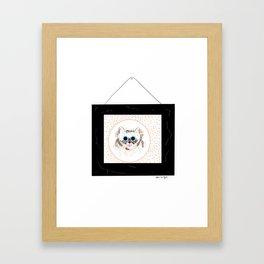 Cat Portrait Framed Art Print