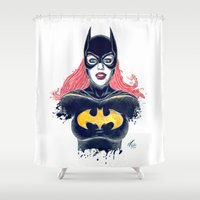 batgirl Shower Curtains featuring Batgirl by Alejandro Pinpon