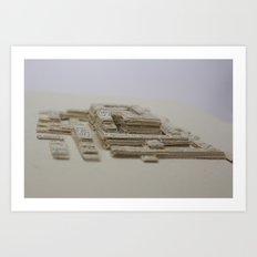 Book Art Maze Art Print