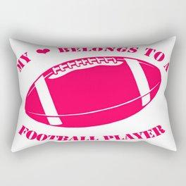 Football Girlfriend Rectangular Pillow