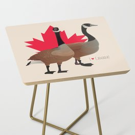 I Love Canada! (Two Canada Geese) Side Table