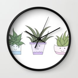 Aloe Pots Wall Clock