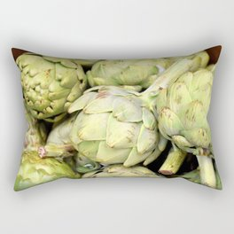 Green Artichokes | Nadia Bonello Rectangular Pillow