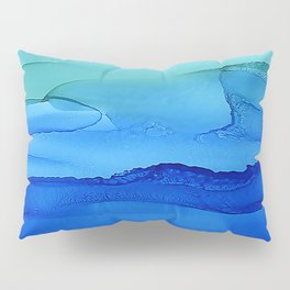 Alcohol Ink Seascape Pillow Sham