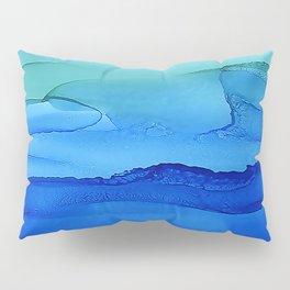Alcohol Ink Seascape Pillow Sham
