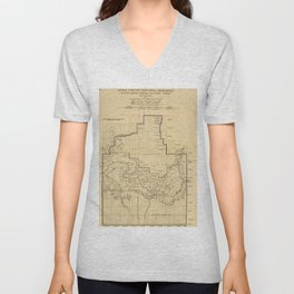 Vintage Map of The Grand Canyon (1908) Unisex V-Neck