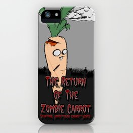 The zombie carrot iPhone Case