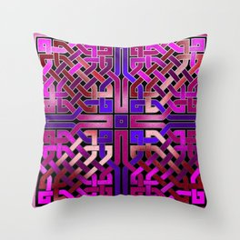 Pink Celtic Knot Square Throw Pillow