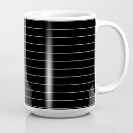 Black White Pinstripe Minimalist Coffee Mug