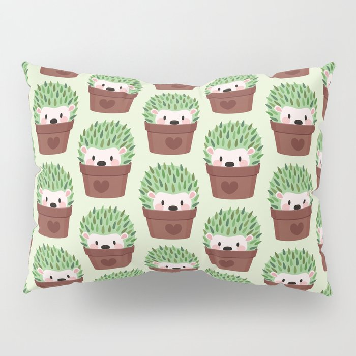 Hedgehogs disguised as cactuses Pillow Sham