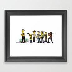 The Walking Dead cast Framed Art Print