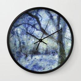 Blue Forest Van Gogh Wall Clock