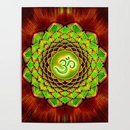 Om Lotus - Green Spirit Poster
