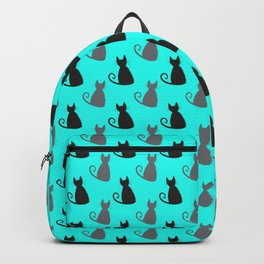 Cat Silhouette Sketch Pattern Backpack