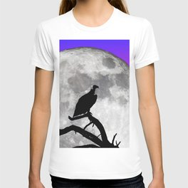 Vulture Silhouetted Against Supermoon T-shirt