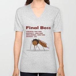 Final Boss - Red Letters Unisex V-Neck