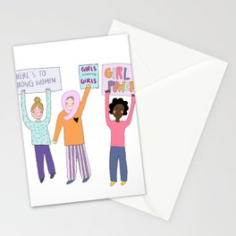 girls supporting girls Stationery Cards