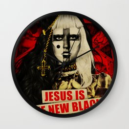 Jesus Is The New Black Wall Clock