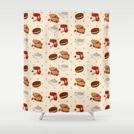 Dough & Mocha Shower Curtain