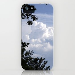Clouds Through the Trees iPhone Case