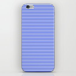 Even Horizontal Stripes, Blue and White, XS iPhone Skin