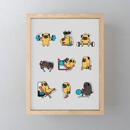 Leg Day with The Pug Framed Mini Art Print