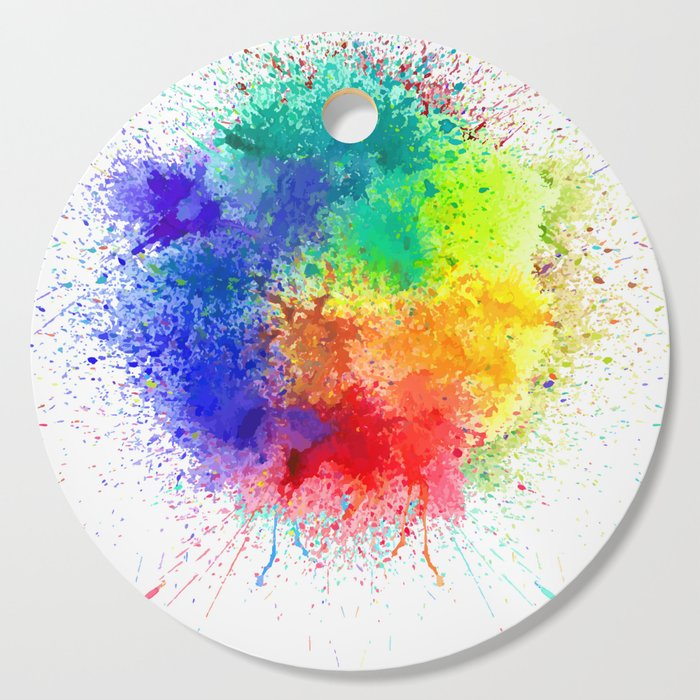 Festival of Colors Cutting Board