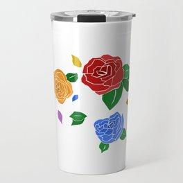lgbt roses Travel Mug