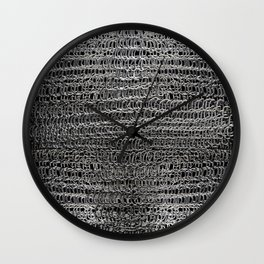 Silver Chain Maille Wall Clock