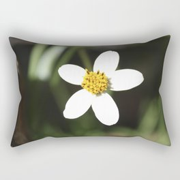 White Flower - Cuzco Rectangular Pillow