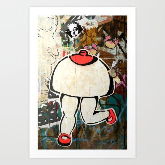Walking breast Art Print