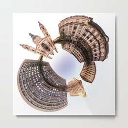 Holey planet with Basilica Metal Print